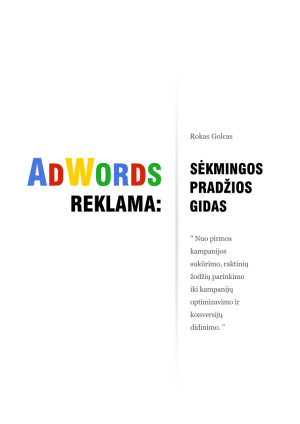 Roko Golco knyga ADWORDS REKLAMA