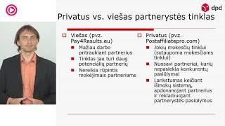 """VLADAS SAPRANAVIČIUS – """"Partnerysčių rinkodara affiliate marketing elektroniniams verslams"""" DPD"""