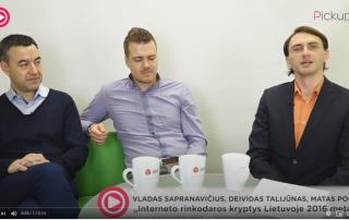 """V. SAPRANAVIČIUS, D. TALIJŪNAS, M. POCIUS – """"Interneto rinkodaros kryptys Lietuvoje 2016 metais"""""""
