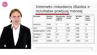 """VLADAS SAPRANAVIČIUS """"Interneto rinkodaros optimizavimas e verslams"""""""
