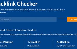 backlink checker įeinančių nuorodų tyrimui